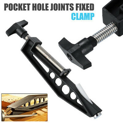 Pocket Hole Joints Fixed Clamp Slant Hole Pull Clip Woodworking Jig Black