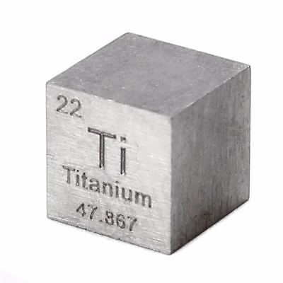 10mm Titanwürfel Titanbarren Titanium metall element cube 99.5% pure
