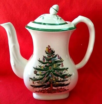 Spode Large Coffee Pot Christmas Tree Made In England