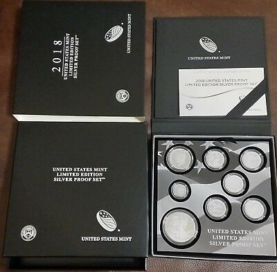 United States Mint Limited Edition 2018 Silver Proof Set 18RC - READY TO SHIP!