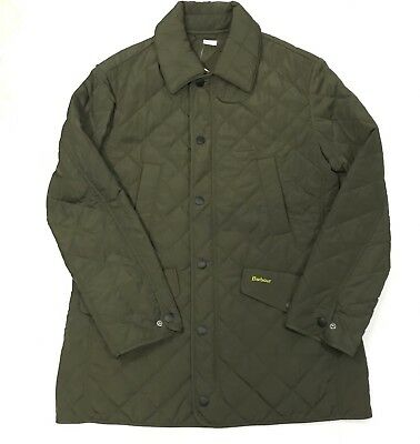 Barbour Mens Medium Brown Quilted Jacket Diamond Pattern Coniston New $249