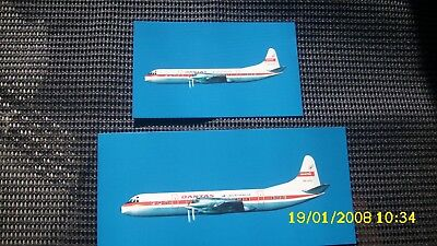 Qantas Electra Vh-Ecd Airline 'never Issued' Postcards