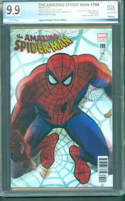 Amazing Spider Man 789 PGX 9.9 Alex Ross Legacy Homage Variant Cover up CGC 2017