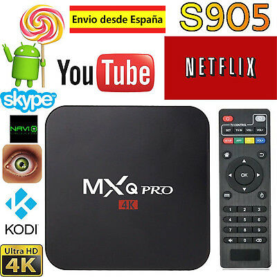 MXQ PRO Smart TV Box UHD 4K Android 6.0 Kd 17.1 S905X Quad-Core 1G+8G Wifi HDMI