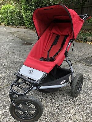 Mountain Buggy Urban Stroller Bassinet Carry Cot In Red