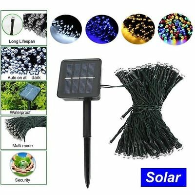 LED Solar Powered Fairy String Lights Garden Outdoor Xmas Party Decoration RGB