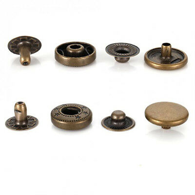 40pcs Snap Fasteners Press Studs Popper Sewing Button Leather Craft B