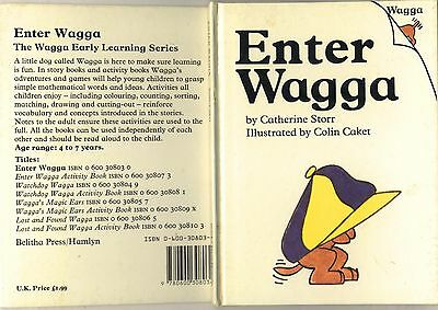 """Vintage :children's Brown Watson -Learning To Rea -"""" Enter Wagga""""- Circa 1980's"""