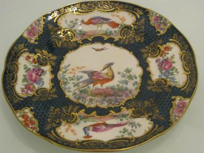 STUNNING, ANTIQUE 19th CENTURY BOOTHS PORCELAIN CHELSEA BIRD CABINET PLATE