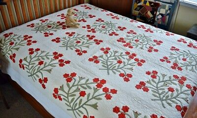 Antique Floral Applique Quilt