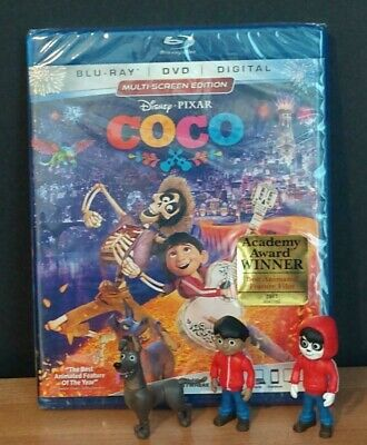 Coco (Blu-ray/DVD, 2018) PLUS 3 Coco Skullectibles Blind Packs!