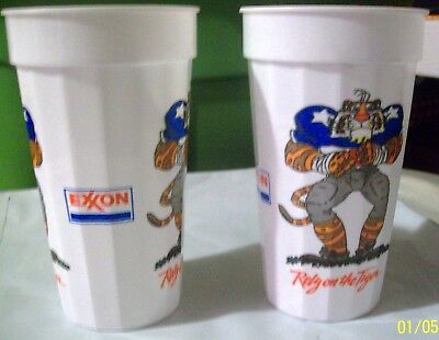 Exxon Rely On The Tiger Plastic Cups