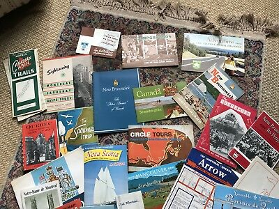 Lot of Vintage Canadian Canada Travel Brochures Maps Pamphlets Booklets Photos