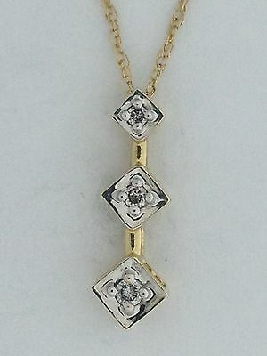 Journey Pendant with Natural Diamond Solid 10kt Yellow Gold