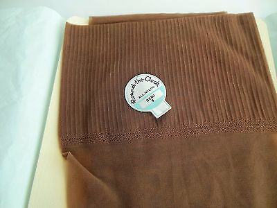 Stockings Round The Clock All Nylon Demi 9 M Taupe RHT Vintage