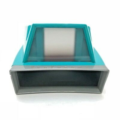 REDUCED (SV3) Cool Vintage Turquoise+Gray Slide Viewer, David White Instr. Co