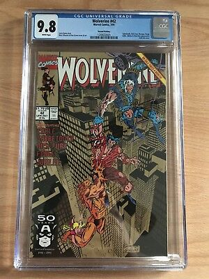 Wolverine 42 CGC 9.8 White Pages 2nd Print Gold Ink Cover Rare