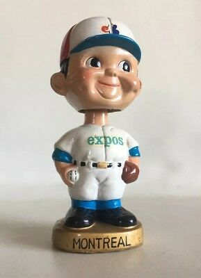 Nr Mint VTG 1960s MONTREAL EXPOS Nodder Bobble Bobbin Head Doll JAPAN Gold Base
