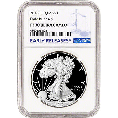 2018-S American Silver Eagle Proof - NGC PF70 UCAM Early Releases