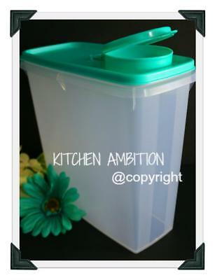 New TUPPERWARE Modular Mates® 13 Cup Cereal Storer Pourable Grain Keeper Teal