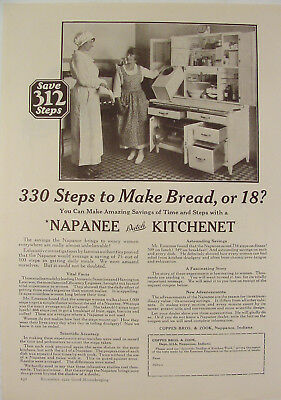 1922 NAPANEE DUTCH KITCHENET Save Time & Steps Photo Print Ad