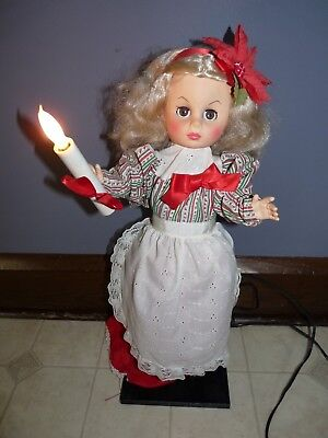 1982 Display Arts Little People Animated Christmas Holiday Figure Girl 23 inches