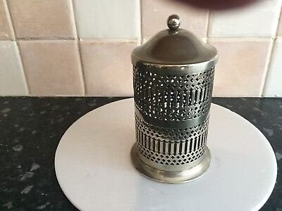 Silver plated preserves pot