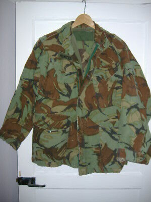 """Preloved Vintage DPM Army Jacket and trousers 1970 pattern 28"""" waist, 38"""" chest"""