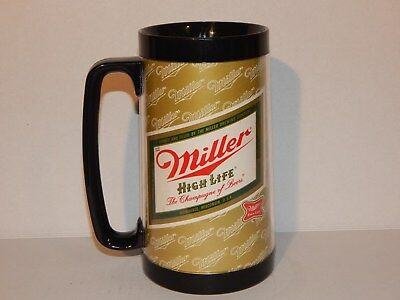 Vintage Miller High Life Thermo Serv Beer Stein Mug The Champagne Of Beers