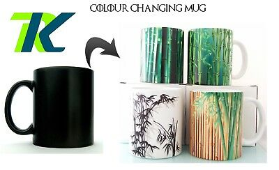 Magic Mug Changing Color Cup Bamboo Tree Mug With Your Text Coffee Cup Gift