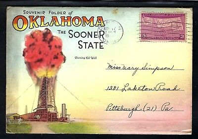 Nmstampsnstuff: Oklahoma - Vintage Fold-Out- 18 Views - Posted