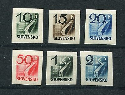 Slovakia Ww2 German Puppet State 1943 Newspaper Stamps Scott P31-P36 Perfect Mnh