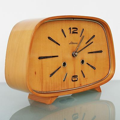 German HERMLE Lizana CLOCK Mantel HIGH GLOSS Chime Vintage TOP 1950s Mid Century