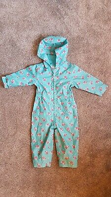 12- 18 Months Mothercare Puddle Splash Suit For Girl Waterproof