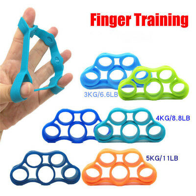 Hand Grip Strengthener Finger Stretcher Strength Trainer Forearm Exercise 7Color