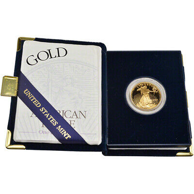 2002-W American Gold Eagle Proof 1/2 oz $25 in OGP