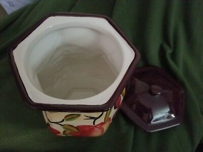 BISCOTTI LARGE fruit COOKIE JAR hand made for NONNI`S