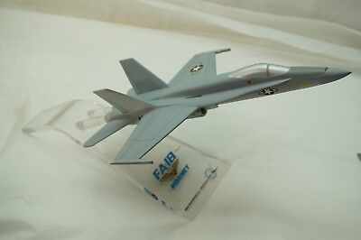 Mcdonnell Douglas Fa 18 Hornet Model Display Air Jet Airplane Desk Shelf Us Navy