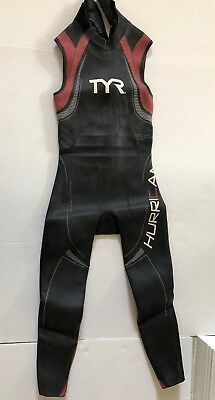 50af7192871d2 TYR Hurricane Category 5 Sleeveless Wet Suit Red   Black Mens size Medium