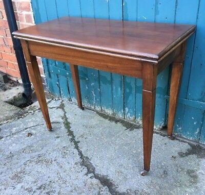 antique fold over card table edwardian walnut side lamp games