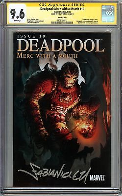 Deadpool: Merc with a Mouth #10 CGC 9.6 NM+ SS NICIEZA IRON MAN VARIANT Not 9.8