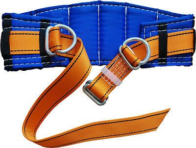 "Safety Belt, Adjustable size 30""- 55"", 2 D-Rings, Blue / Yellow"
