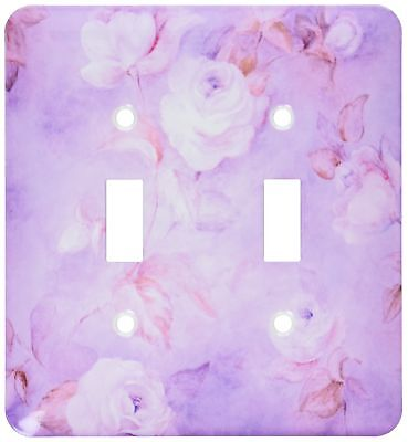 3dRose LLC lsp_41404_2 Roses on Pink, Double Toggle Switch