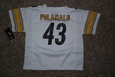 Discount TROY POLAMALU #43 Pittsburgh Steelers White Jersey TODDLER 2T  free shipping