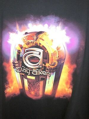 Vintage Mens Clay Aiken Jukebox Tour T Shirt 2005 XXL/2XL Rare American Idol