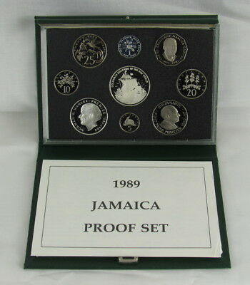 Jamaica 1989 Proof Set - Scarce - Only 500 Minted