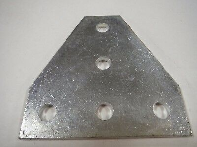 Unistrut P1726-EG 5 Hole Flat Plate Fitting (2pcs) Zinc