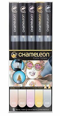 Chameleon Color Tones 5 Pen Set Alcohol Blending Gradient - Pastel Colour Tones