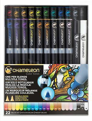 Chameleon Color Tones Pen Set Alcohol Blending Gradient - 22 Pen Deluxe Set