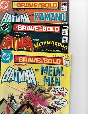 Brave and the Bold  Lot of 3 (#135,154,157  VF+  8.5) 1977/1979,  DC